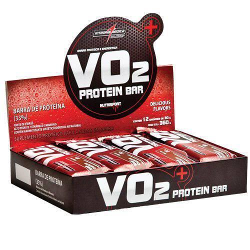 VO2 PROTEIN BAR Frutas Vermelhas C/ Iorgute - 12 Unidades de 30g - Integralmédica