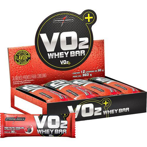 Vo2 Protein Bar Integralmédica - 12 Barras (opções Sabores)