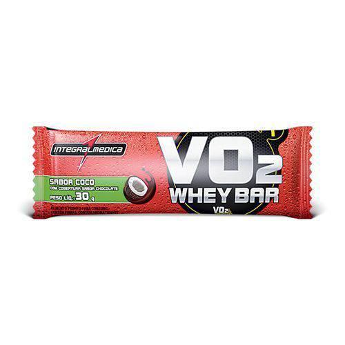 VO2 Whey Bar - 1 Unidade 30g Côco - IntegralMédica