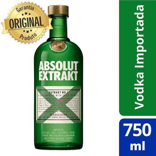 Vodka Sueca Absolut Extrakt Garrafa 750ml