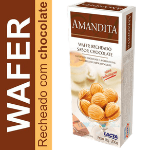 Wafer Recheado Amandita 200g