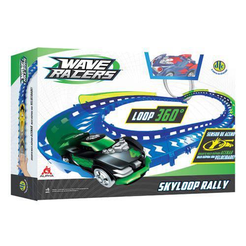 Wave Racers Skyloop Rally Veículo e Pista Loop 360 Dtc