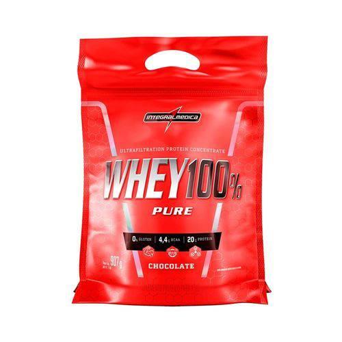 Whey 100% Pure Integralmedica 907g Refil - Chocolate