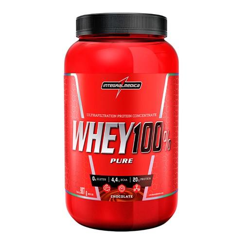 Whey 100% Pure Integralmédica Sabor Chocolate 907g