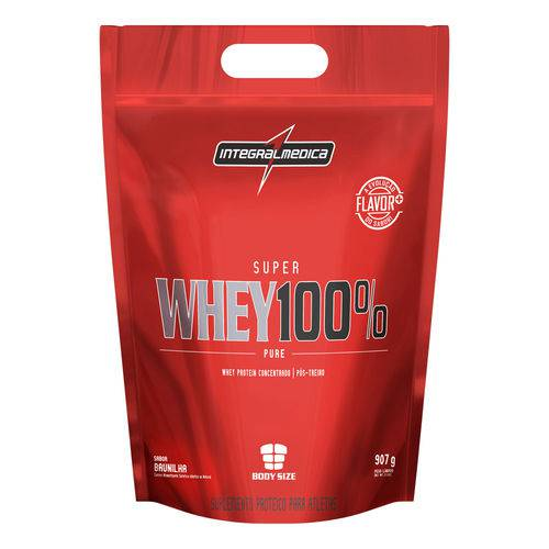 Whey 100% Pure Pouch - 907g - Integral Médica - Sabor Baunilha