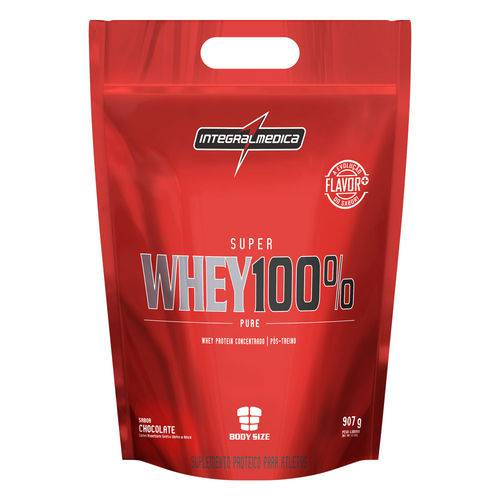 Whey 100% Pure Pouch - 907g - Integral Médica - Sabor Chocolate