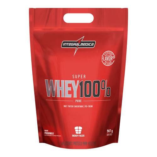 Whey 100% Pure Pouch - 907g - Integral Médica - Sabor Morango