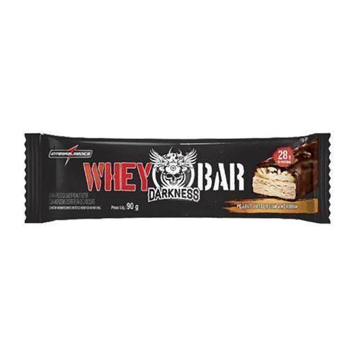 Whey Bar Darkness - 1 Unidade 90g Doce de Leite com Chocolate Chip - Integralmédica