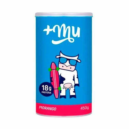 Whey Concentrado Sabor Morango - Mais Mu - 450g
