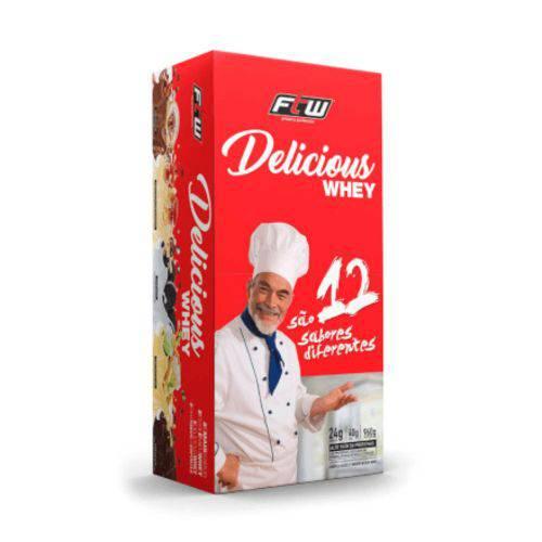 Whey Delicious Gourmet 24 Sachês 40g - Caixa com 960gr