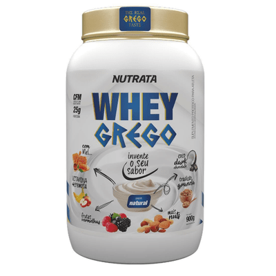 Whey Grego 900g Nutrata Whey Grego 900g Natural Nutrata