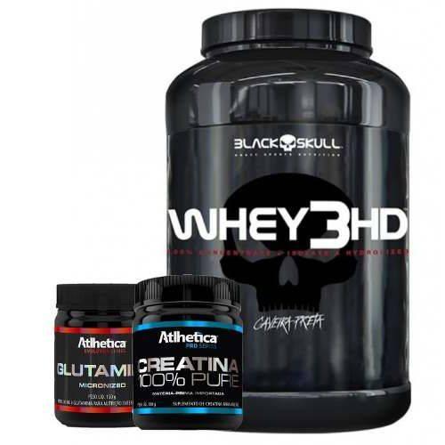 Whey 3hd 900gr+ Creatina 100% Pure 100g + Glutamine 150g