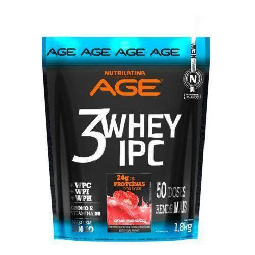 3 Whey Ipc Age - Morango 1800g - Nutrilatina