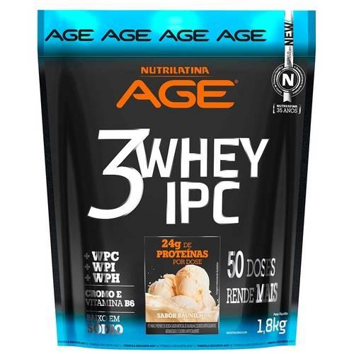 3 Whey Ipc - Refil - 1,8kg - Nutrilatina - Baunilha