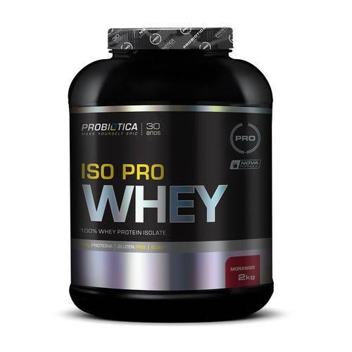 Whey Iso Pro Whey Morango 2kg Probiótica Pro