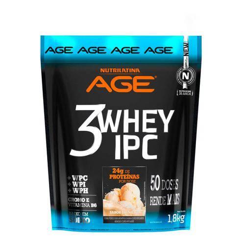 3 Whey Nutrilatina Age Ipc 1,8kg Baunilha - Refil