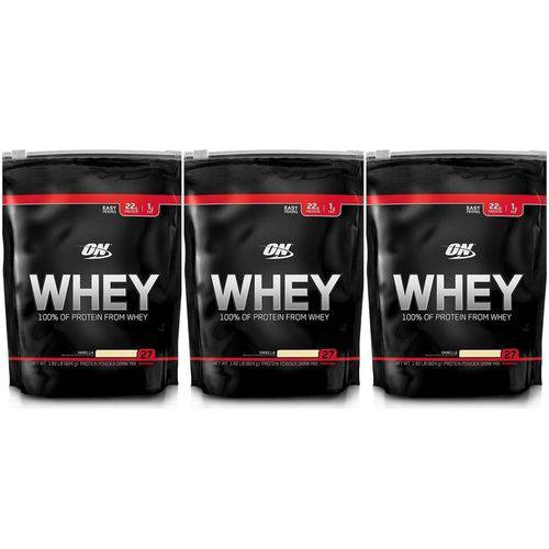 Whey Optimum Nutrition 3 Unidades - 5,55lb