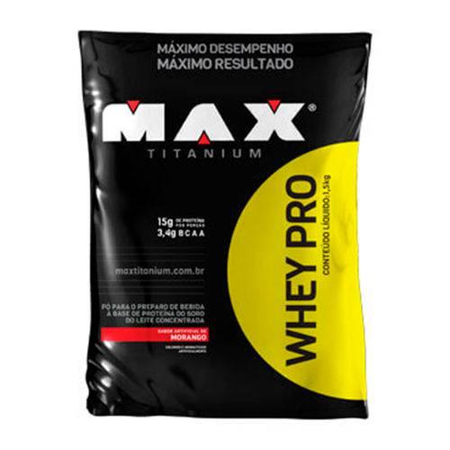 Whey Pro - 1,5 Kg - Max Titanium