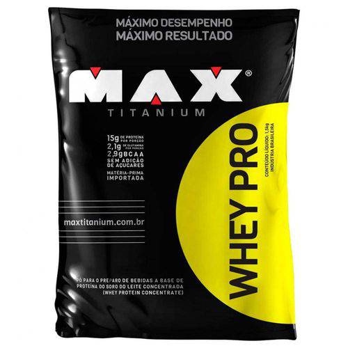 WHEY PRO (1500G REFIL) - Max Titanium