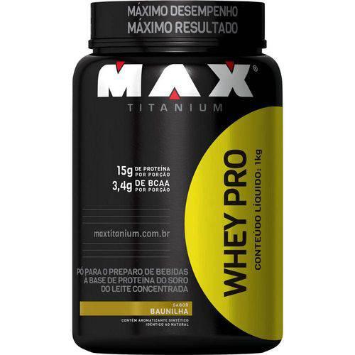 Whey Pro - 1kg - Max Titanium - Morango