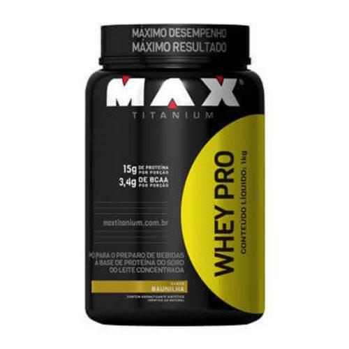 Whey Pro Max Titanium 1000g(pote) Baunilha