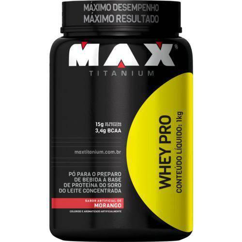 Whey Pro Max Titanium 1kg Morango