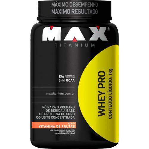 Whey Pro Max Titanium 1kg Vitamina de Frutas