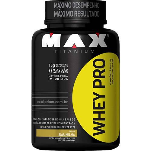 Whey PRO Morango 1kg - Max Titanium