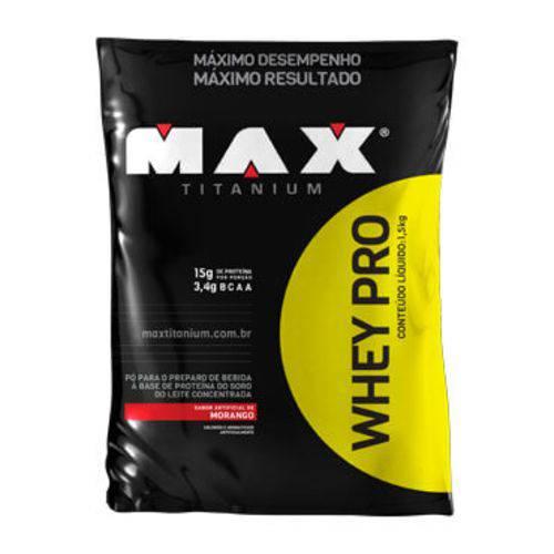 Whey Pro Morango Max Titanium Pote 1,5 Kg