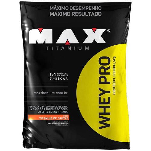 Whey Protein - 1,5 Kg - Sabor Vitamina de Frutas - Max Titanium