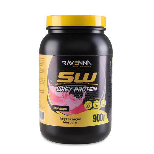 Whey Protein 5w 900g - Morango - Ravenna