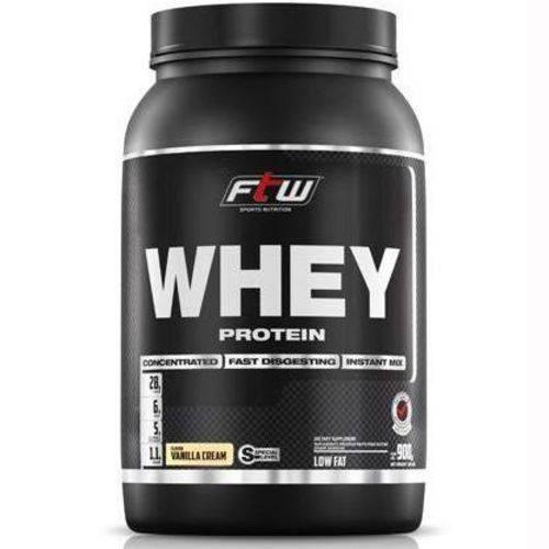 Whey Protein 60% Concentrado Baunilha 900g Ftw