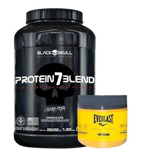 Whey Protein 7blend 837g + Everlast 200g Pré-treino Top!!!