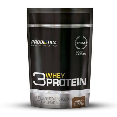 3 Whey Protein Baunilha Pouch 825g - Probiótica