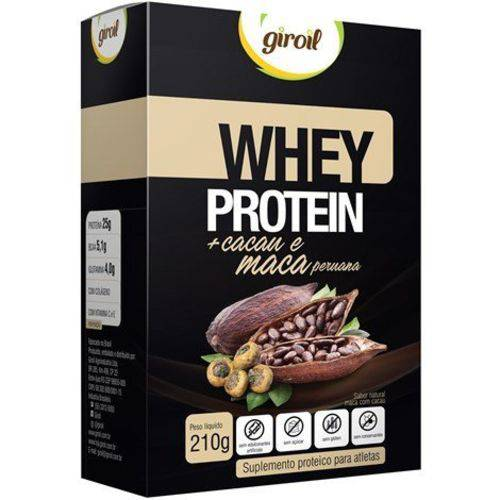 Whey Protein Cacau e Maca Peruana 210g Giroil