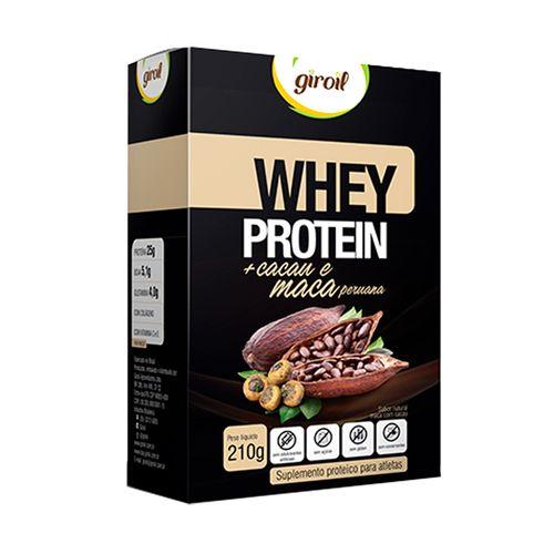 Whey Protein Cacau e Maca Peruna - Giroil - 210g