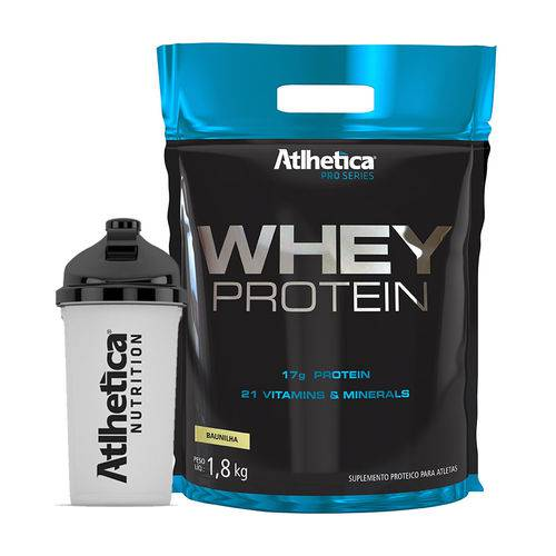 Whey Protein Concentrado 1,8 Kg Pro Series Athletica + Coqueteleira