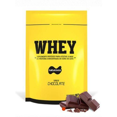Whey Protein Concentrado 907g Naturovos - Sabor Chocolate