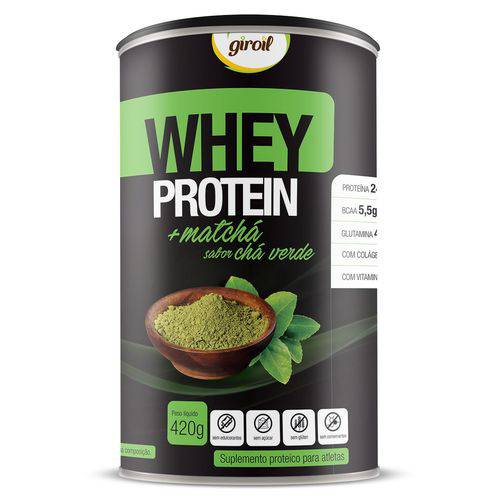 Whey Protein Concentrado Matcha Chá Verde 420g - Giroil - Chá Verde