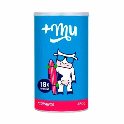 Whey Protein Concentrado Sabor Morango - Mais Mu - 450g
