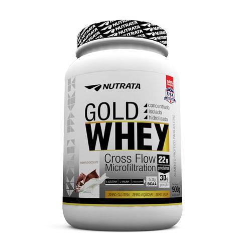 Whey Protein Gold Whey 900gr Morango Nutrata