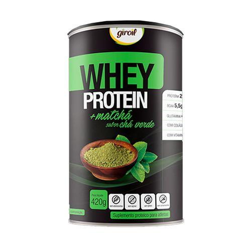 Whey Protein +Matchá Chá Verde - Giroil - 420g
