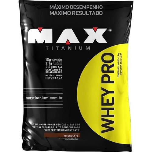Whey Protein Pro 1,5KG - Max Titanium Chocolate