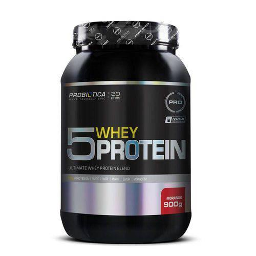 Whey Protein Pro 5 Whey Protein 900g - Probiótica Morango