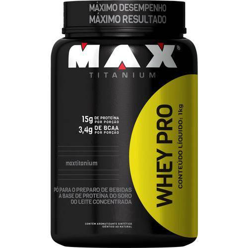 Whey Protein Pro Chocolate Max Titanium Pote 1kg