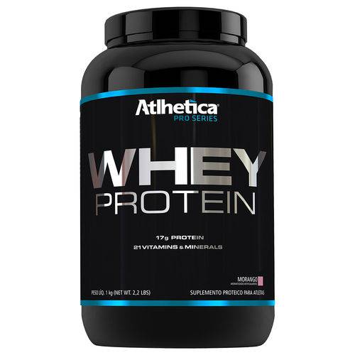 Whey Protein Pro Series 1kg Atlhetica Morango