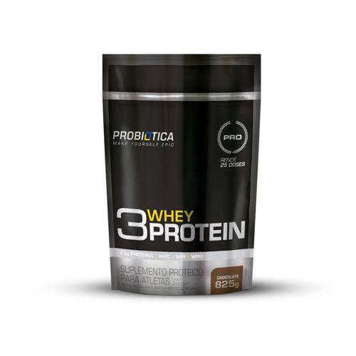 3 Whey Protein Probiótica Refil 825g Sabor Chocolate