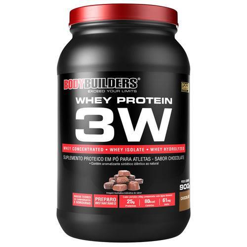 Whey Protein 3W Bodybuilders Chocolate 900g