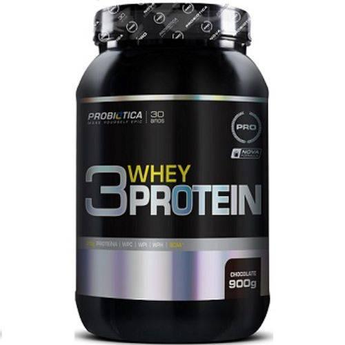 Whey Protein 3w Probiotica 900g - Chocolate
