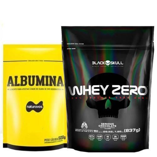 Whey Zero Refil 837g Black Skull (cookies & Cream) + Albumina 500g! (chocolate)